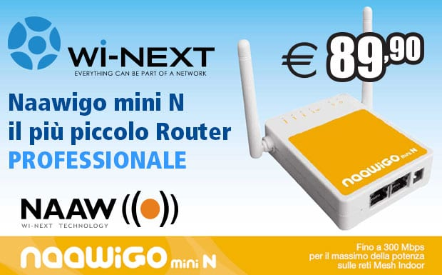 Router Wi-Fi Naawigo mini N