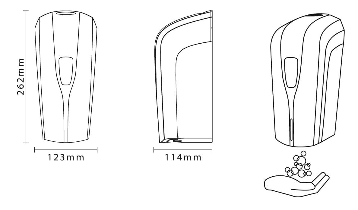 Dispenser automatico con sensore IR per liquido - Gel igienizzante mani