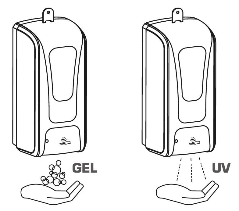 Il sensore evita ogni contatto diretto con il dispenser e riduce la possibilità di contaminazioni tra utenti. Oltre che per uso domestico, il dispenser può essere utilizzato in Locali pubblici - Uffici - Aziende Studi medici o professionali Hotel - Alberghi - Ristoranti - Pizzerie Bar - Pub - Birrerie - Enoteche